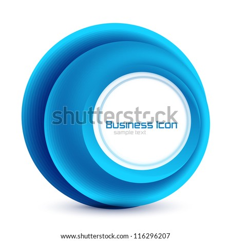 Abstract vector swirl circles background - stock vector