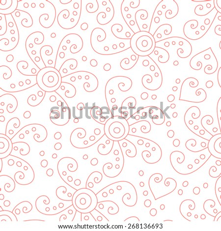 Abstract vector swirl simple seamless pattern. - stock vector