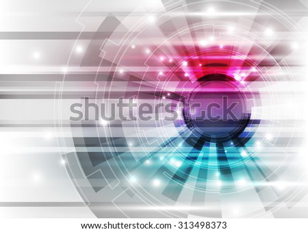 abstract vector technology background illustration - stock vector
