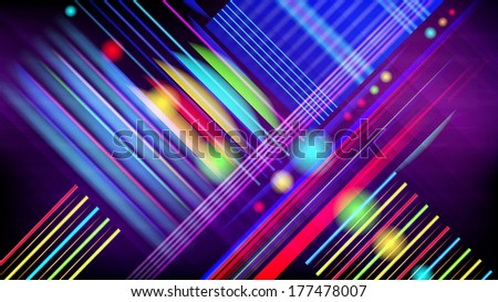 Abstract vector technology-style  background  with light effect.  - stock vector