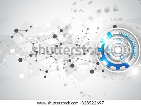abstract vector technology triangle polygon background, illustration - stock vector