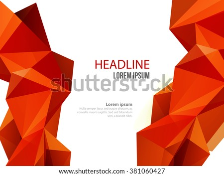 Abstract vector template design, brochure, Web sites, page, leaflet, certificate with colorful geometric triangular backgrounds - stock vector