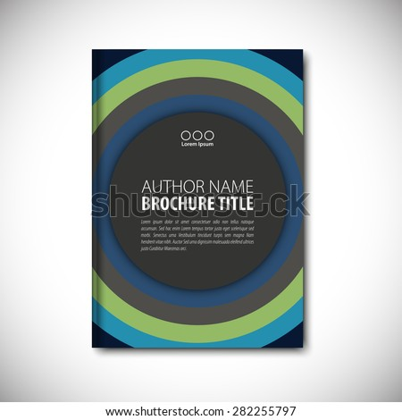 Abstract vector template layout for brochure, flyer, booklet, cover. Dark color version. - stock vector
