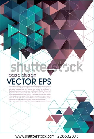 Abstract vector template. Modern design: web pages, flyers.  - stock vector