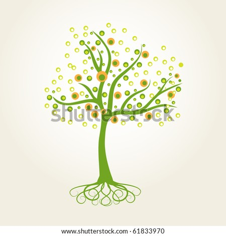 Abstract vector tree - stock vector