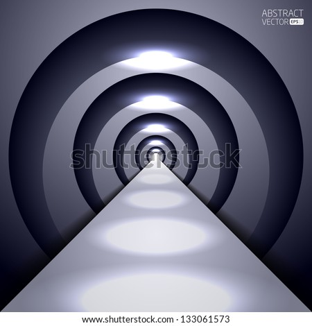 Abstract vector tunnel - stock vector