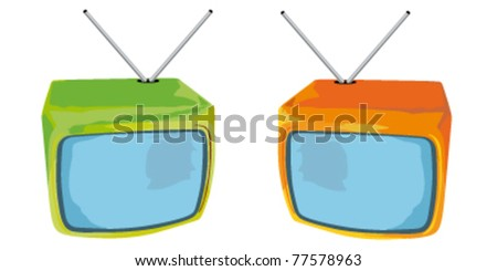 abstract vector tv icon - stock vector