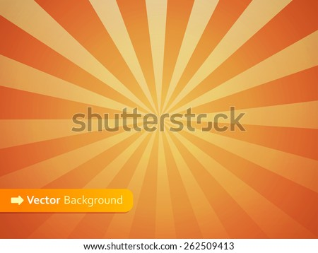 Abstract Vector Vintage Background with Sunrise Shining - stock vector