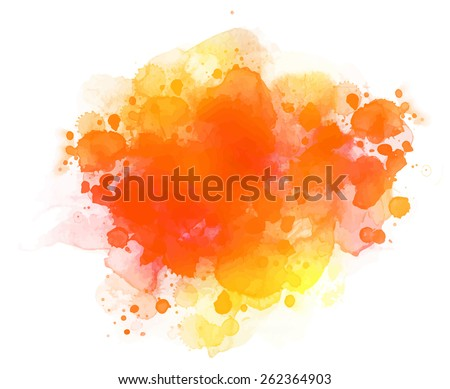 Abstract vector watercolor background.  - stock vector