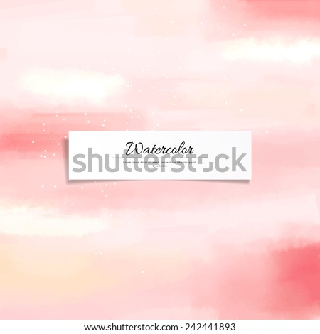 Abstract vector watercolor stain blurring background. Hand drawing. Realistic banner for your text. - stock vector