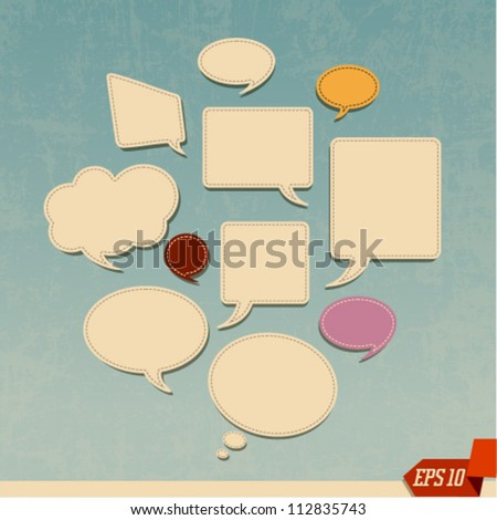 Abstract Vector Web Design Bubble and Clouds. Graphic Design Editable For Your Design. - stock vector