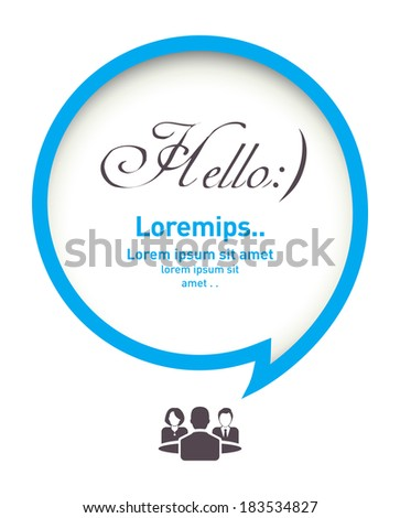 Abstract vector with speech bubble - stock vector