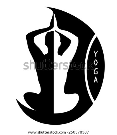 Abstract vector Yoga logo  - stock vector