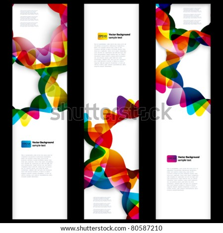 Abstract vertical banner with forms of empty frames for your web design. - stock vector