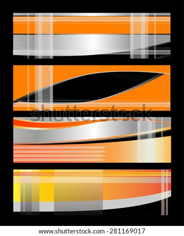 Abstract vertical header colorful wave vector  - stock vector