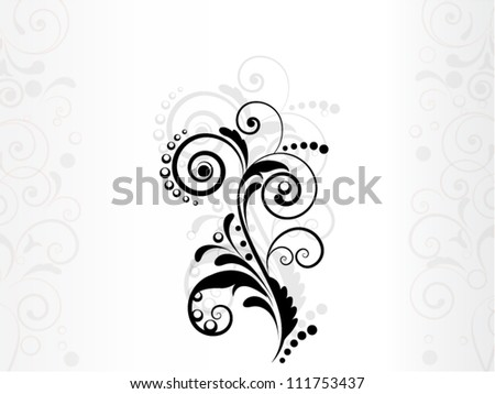 abstract vintage background in vector with floral element - stock vector