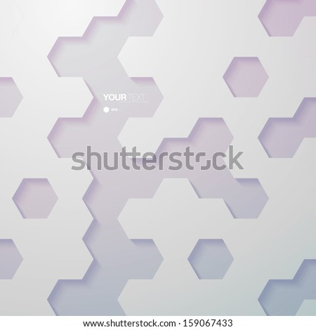 Abstract vintage color hexagon pattern design wallpaper  Eps 10 vector illustration - stock vector