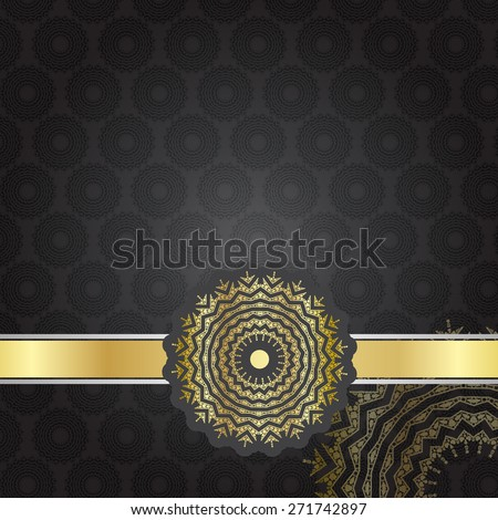 Abstract vintage elegant background with a golden ornament (EPS10 Vector) - stock vector