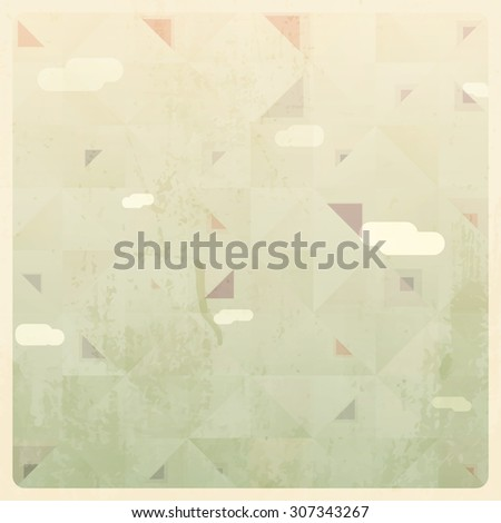 Abstract Vintage Geometric Background - stock vector