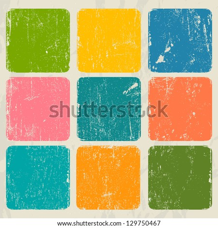 Abstract vintage poster. Vector illustration EPS8 - stock vector