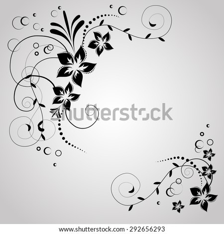 abstract vintage retro floral background in vector with floral elements - stock vector
