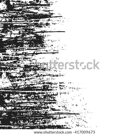 abstract vintage scratched black ink texture and background, grunge splash, vector paint - stock vector