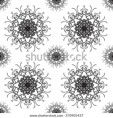 Abstract Vintage Seamless Pattern Background. Flora Doodle Style, Floral Pattern.  Vector Illustration. - stock vector