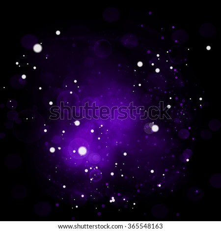 Abstract violet background with effect bokeh and light in center. Vector cool purple background for holiday, night party or fashion. Backdrop like space - stock vector