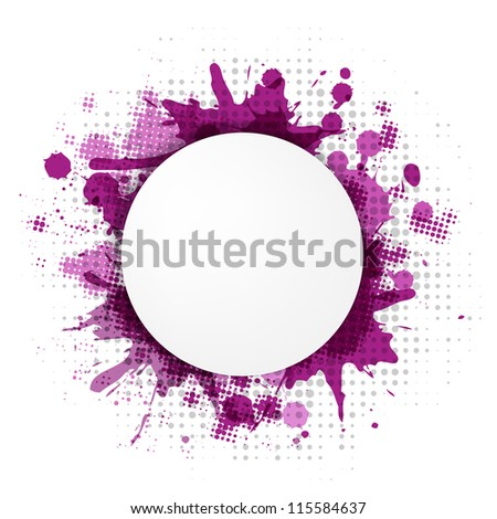 Abstract Violet Bubble With Blobs, Vector Illustration - stock vector