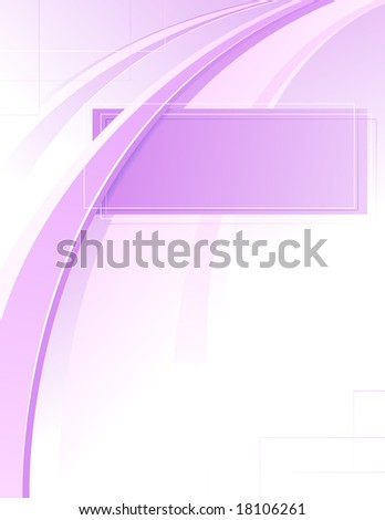 Abstract violet curve, vector illustration, EPS file included - stock vector