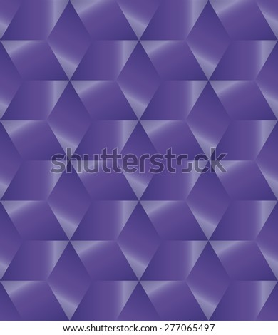 Abstract violet metallic cube endless pattern design vector - stock vector