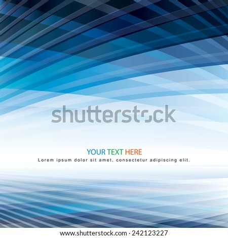 Abstract virtual perspective space background. - stock vector