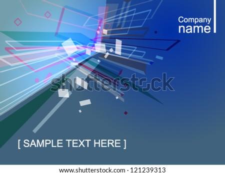 Abstract virtual space. Vector background - stock vector