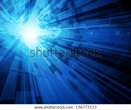 Abstract virtual space with screen vector background. Eps 10. - stock vector