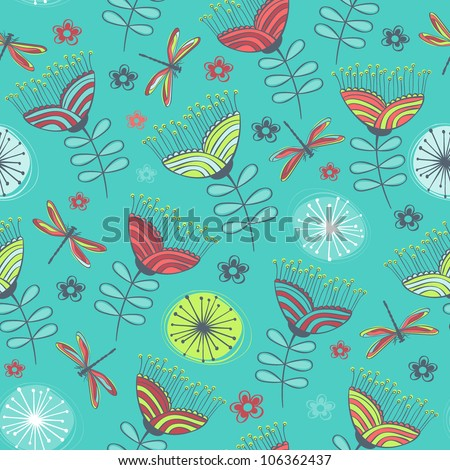 abstract wallpaper pattern seamless background. Vector illustration - stock vector