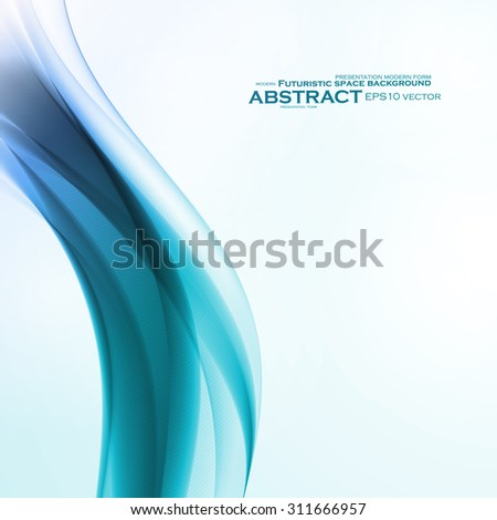 Abstract water background, vector wave illustration eps10 - stock vector