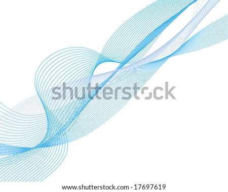 Abstract water vector background with bubbles of air. Clipping mask. - stock vector