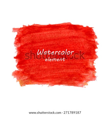 Abstract watercolor art hand paint isolated on white background. Watercolor stains.  - stock vector