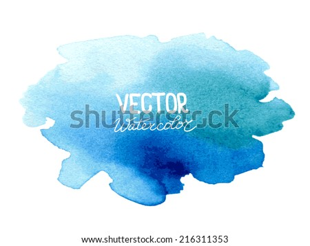 Abstract watercolor background for your design. Eps 8 vector. Original raster image: ID 259542872 - stock vector