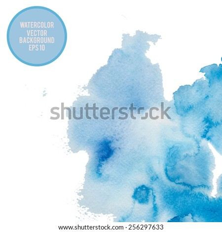 Abstract watercolor background. Vector illustration. - stock vector