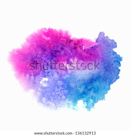 Abstract watercolor splash. Watercolor drop. - stock vector