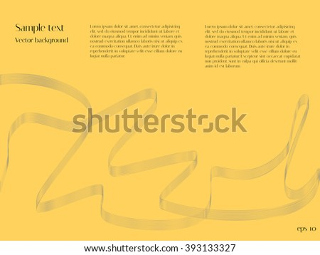 Abstract wave blend. Yellow vector background for design catalogs and journals - stock vector