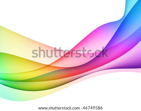 Abstract Wave Internet Background Original Vector Illustration - stock vector