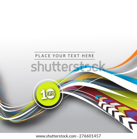Abstract Wave Line Background, Vector Illustration. - stock vector