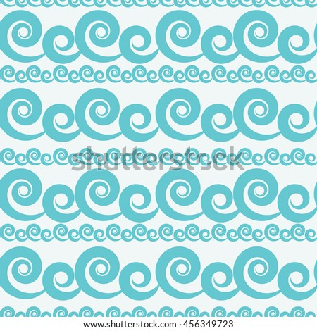 Abstract Wave Seamless Pattern Background. Vector Illustration EPS10 - stock vector