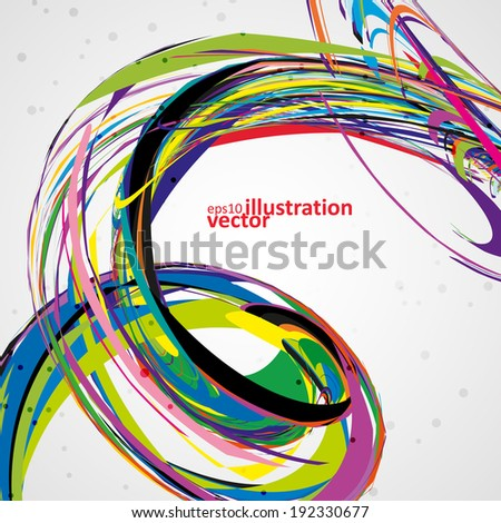 Abstract wave vector background, futuristic technology illustration eps10 - stock vector