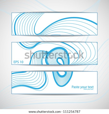 Abstract wave vector background set - stock vector