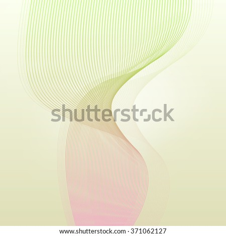 Abstract wave vintage retro lines background vector illustration motion concept - stock vector