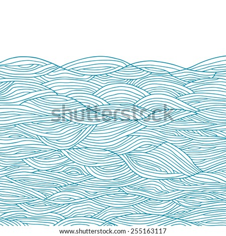 Abstract waves background - stock vector