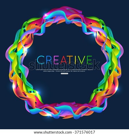 Abstract waves background. Abstract color wave design element. Vector waves. Green, blue, yellow and red waves. Abstract color curved lines background. Template for banner, poster, flyer, brochure. - stock vector